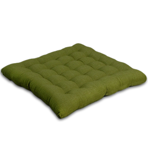 Green Floor Pillows : Japanese Cushion Cotton Linen (olive) - Cotton Linen - Japanese Cushions - Floor Pillows