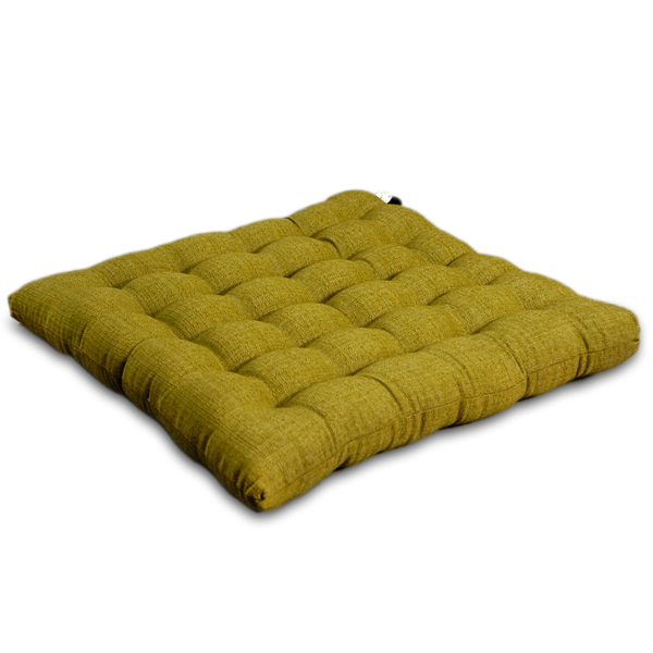 Floor Cushions Or Pillows : Japanese Cushion Cotton Linen (olive) - Cotton Linen - Japanese Cushions - Floor Pillows