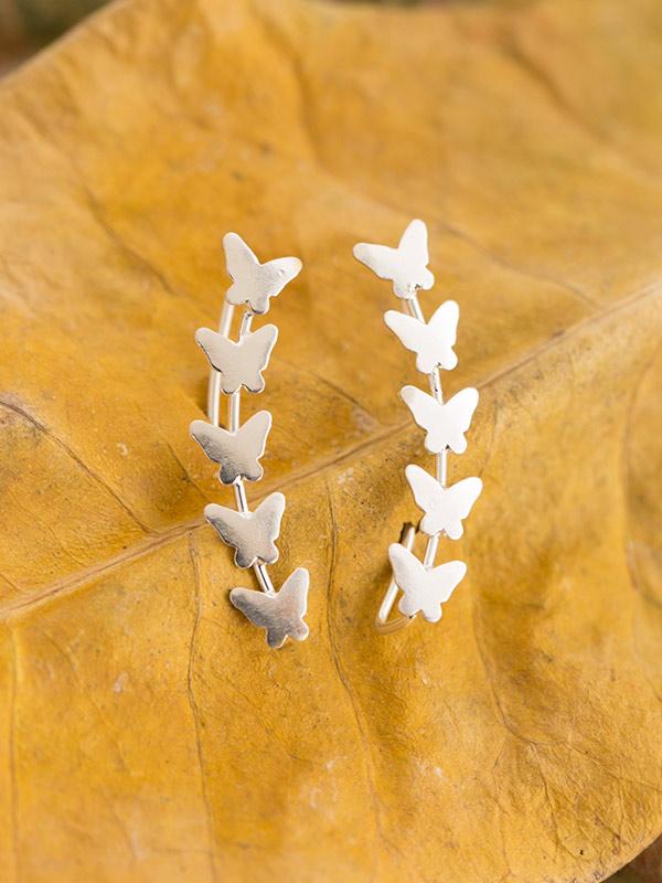 Butterfly Trail Ear Climbers