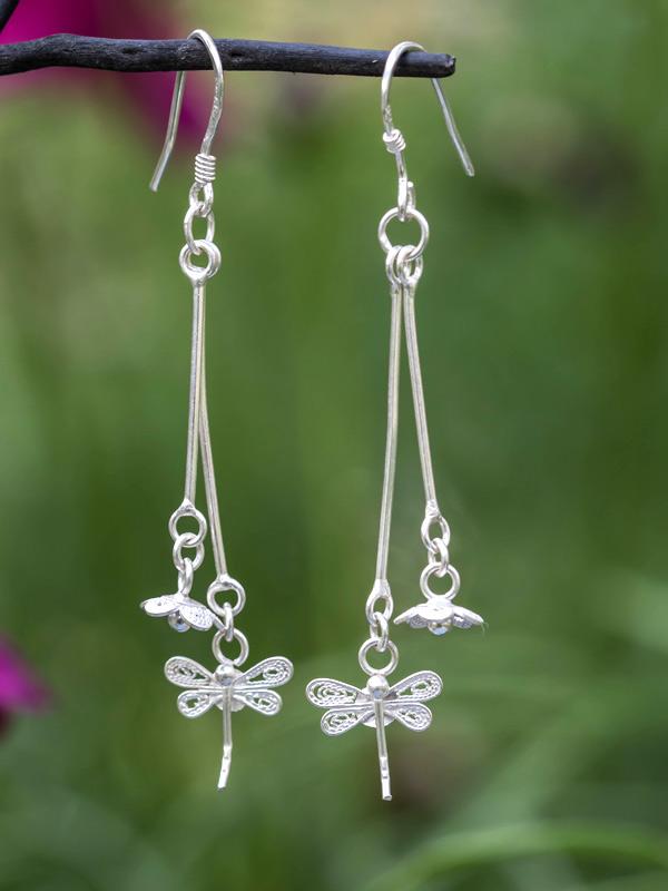 Dragonfly Pendula Earrings
