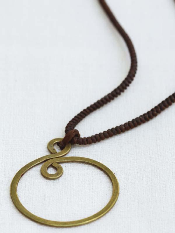 Bronze Epicycle Pendant