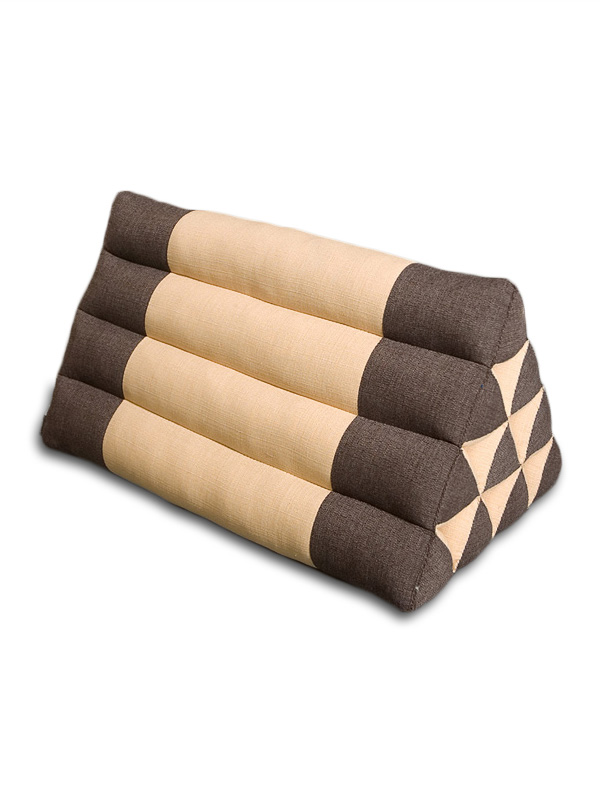 Triangle Pillow Cotton Linen (brown Mocha)