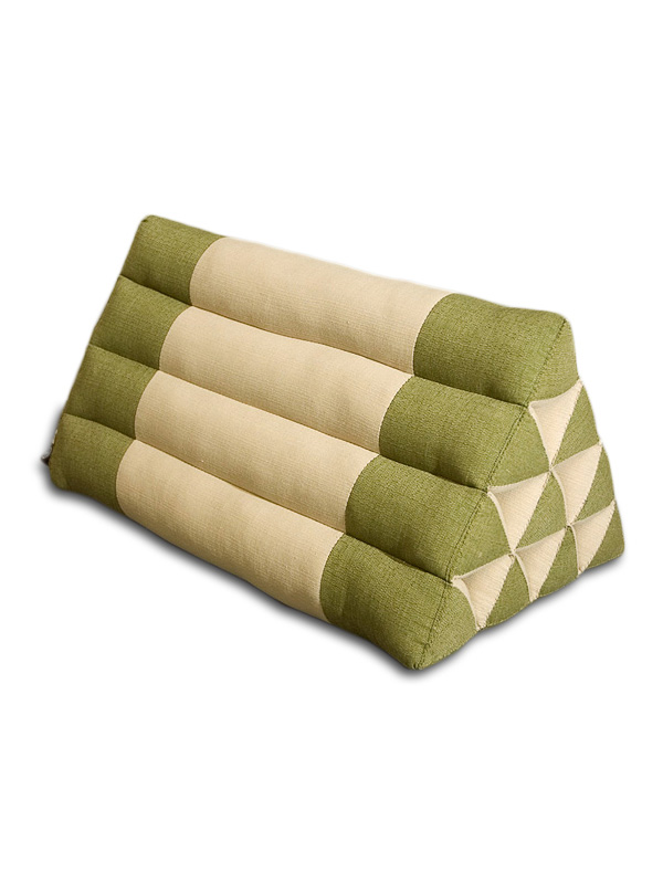 Triangle Pillow Cotton Linen (green Sage)