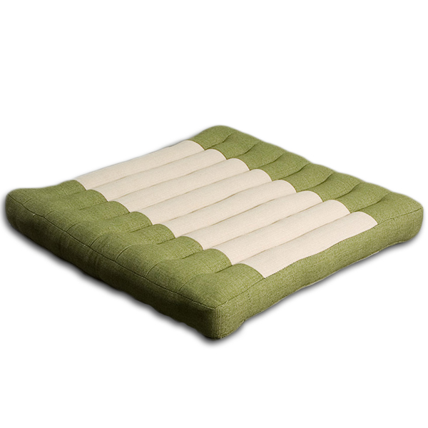 Meditation Cushion Cotton Linen (Green Sage)