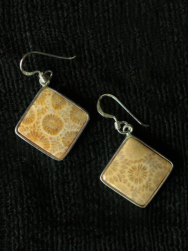 Diamond Coral Goldenrod Earrings