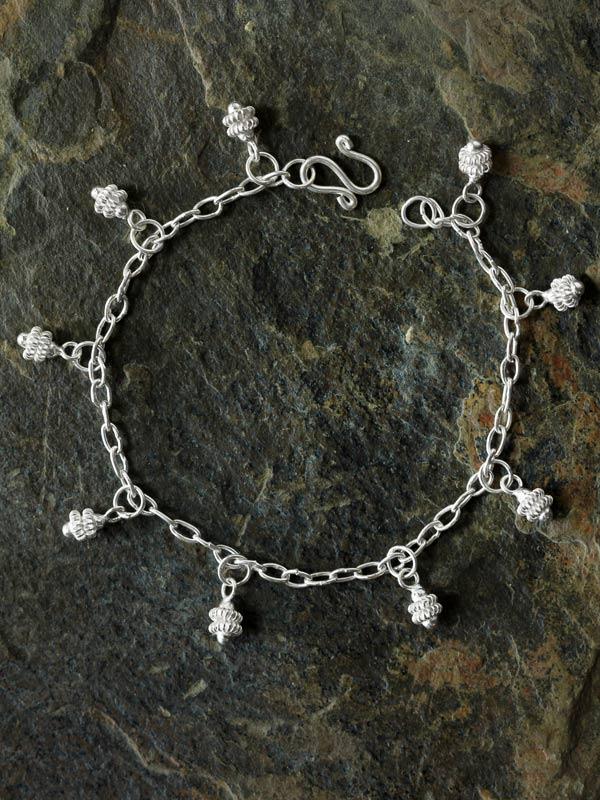 Draped Star Gooseberry Charm Bracelet