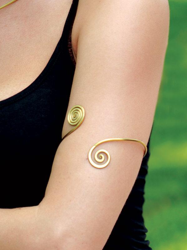 Dual Spiral Armband