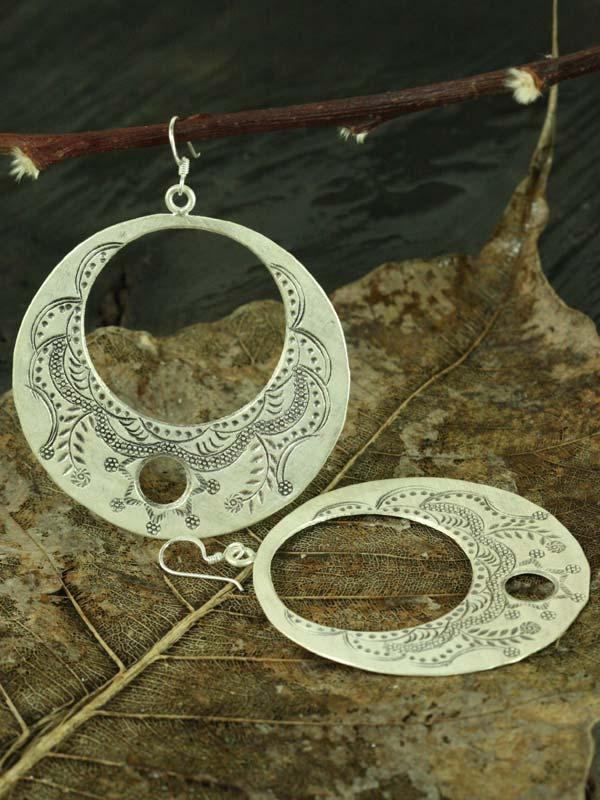 Engraved Eclipse Earrings
