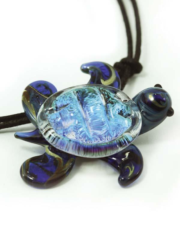 Glass Sea Turtle Pendant