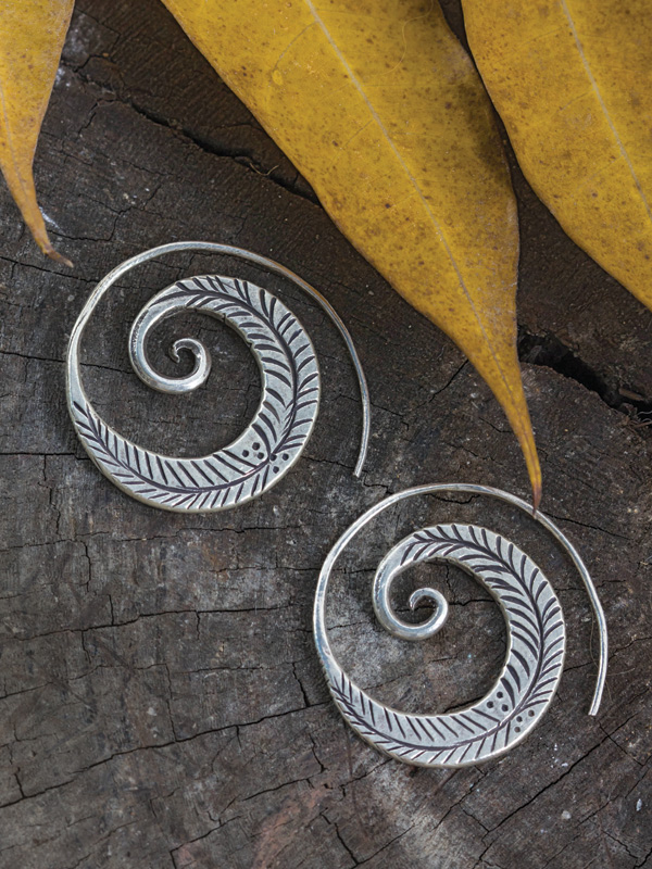 Feathered Roller Earrings