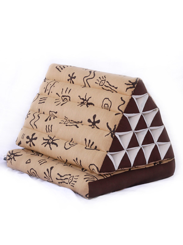 King Triangle Pillow One Fold Batik (aboriginal)