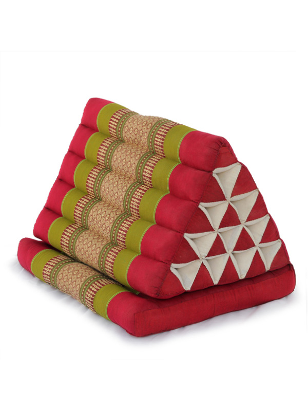 King Triangle Pillow One Fold Thai Classic (green Red)