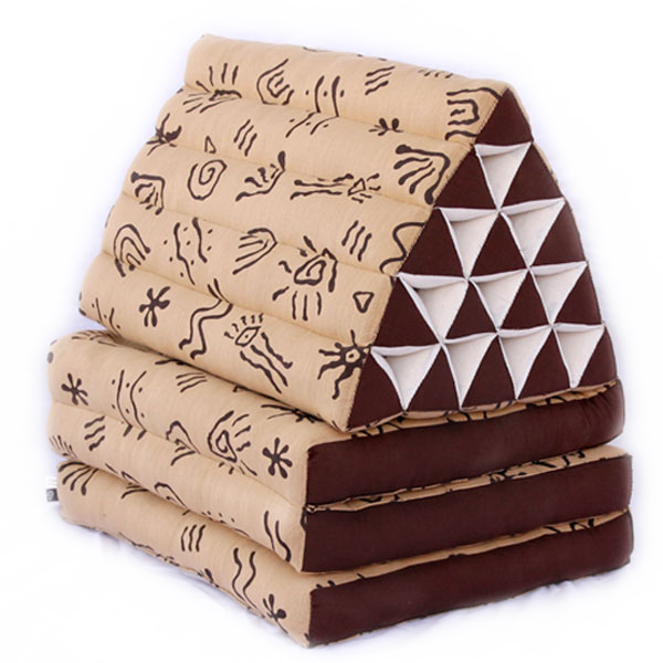 King Triangle Pillow Three Fold Batik (aboriginal)