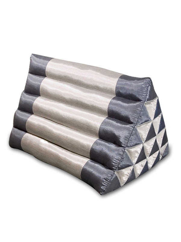 King Triangle Pillow Silklook (blue Grey)