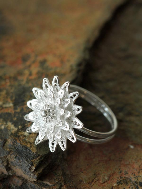 Large Adjustable Sunflower Ring