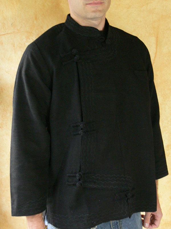 Mandarin Jacket (side Cut)