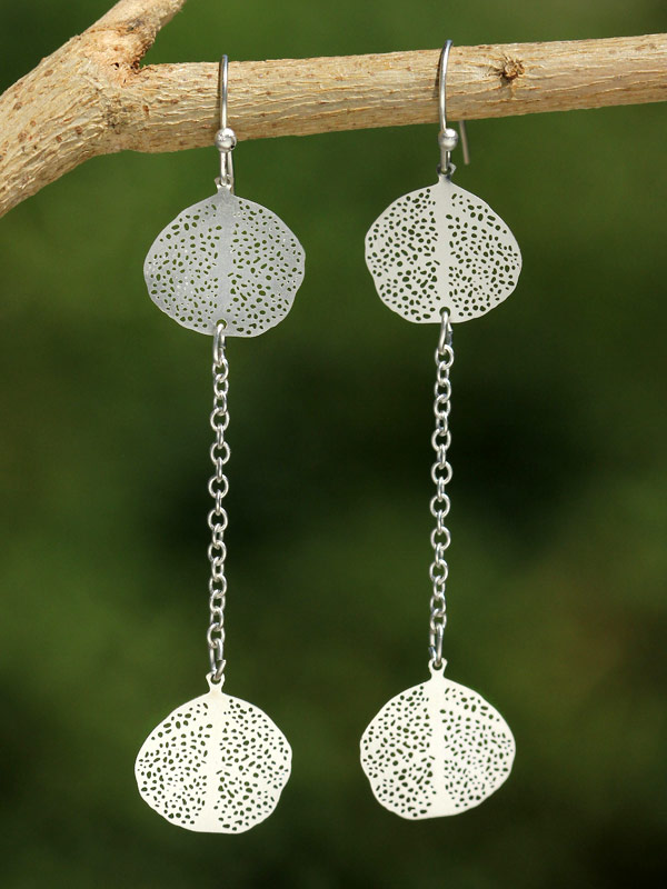 Petite Lily Pads Earrings