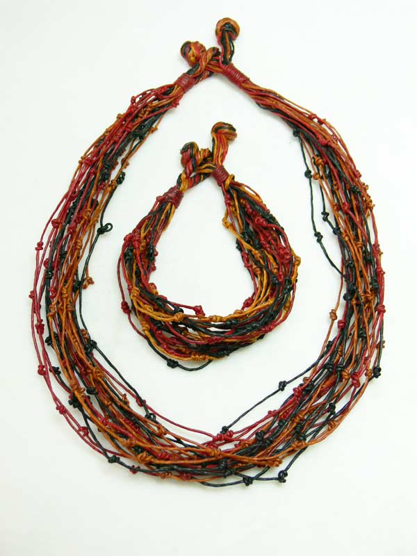 Rainbow Wick Necklace Set