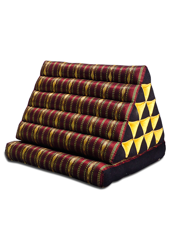 King Triangle Pillow One Fold Royal Silklook (burgundy)