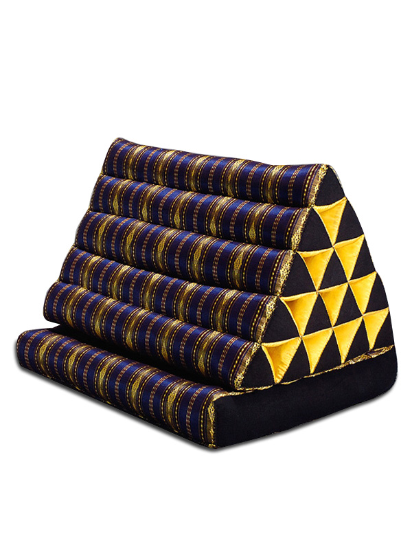 King Triangle Pillow One Fold Royal Silklook (dark Blue)