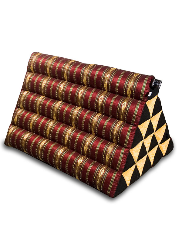 King Triangle Pillow Royal Silklook (burgundy)