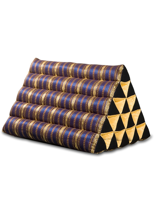 King Triangle Pillow Royal Silklook (dark Blue)
