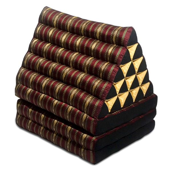 King Triangle Pillow Three Fold Royal Silklook (burgundy)