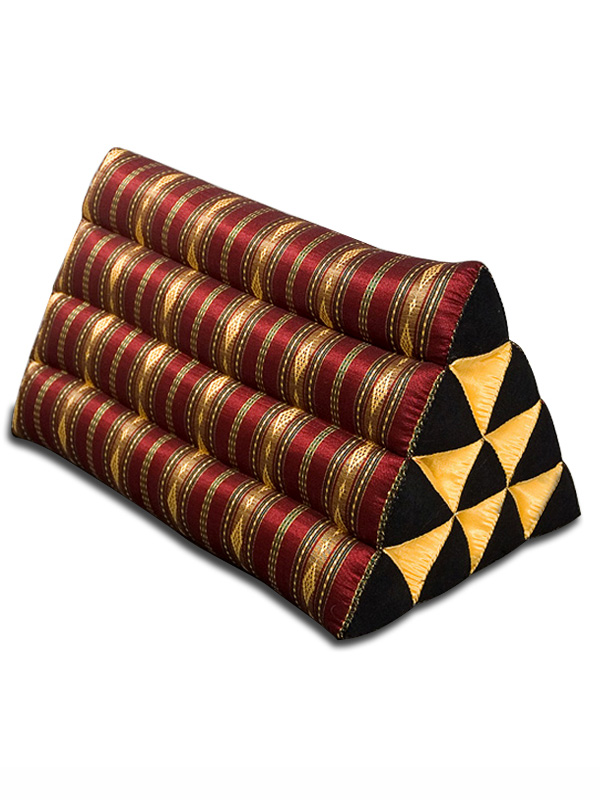 Triangle Pillow Royal Silklook (burgundy)