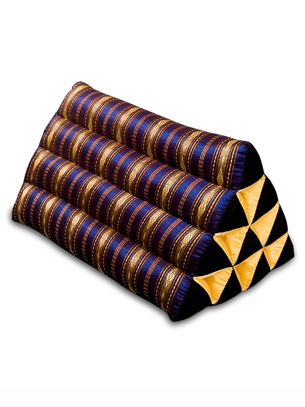 Triangle Pillow Royal Silklook (dark Blue)