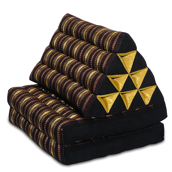 Triangle Pillow Two Fold Royal Silklook (black)