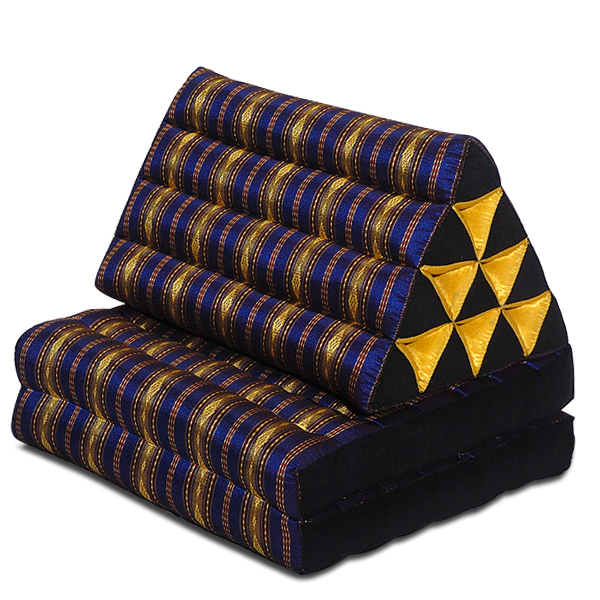 Triangle Pillow Two Fold Royal Silklook (dark Blue)