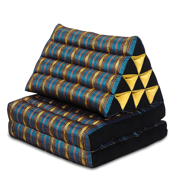 Triangle Pillow Two Fold Royal Silklook (light Blue)