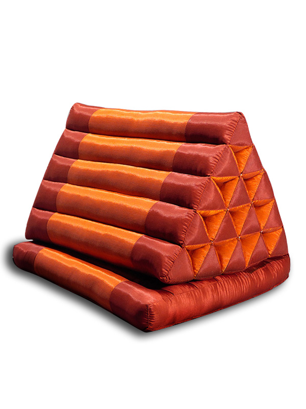King Triangle Pillow One Fold Silklook (burgundy Rust)