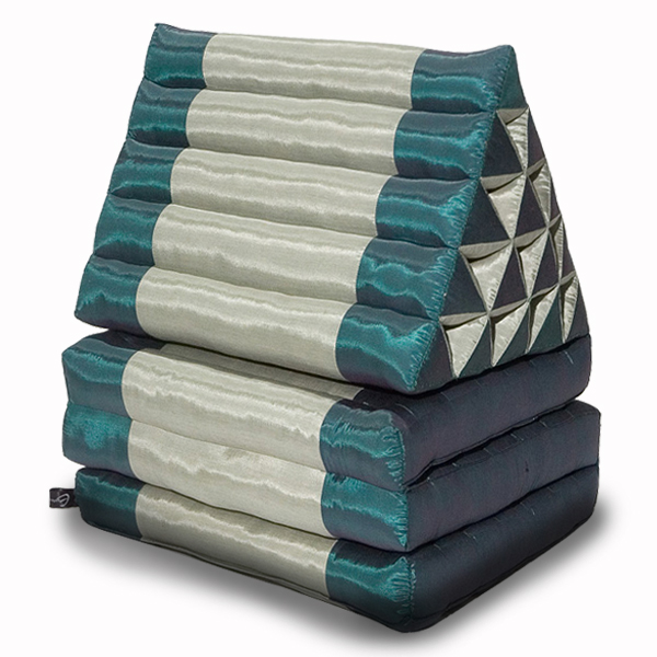 King Triangle Pillow Three Fold Silklook (green Olive)