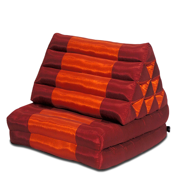 Triangle Pillow Two Fold Silklook (burgundy Rust)