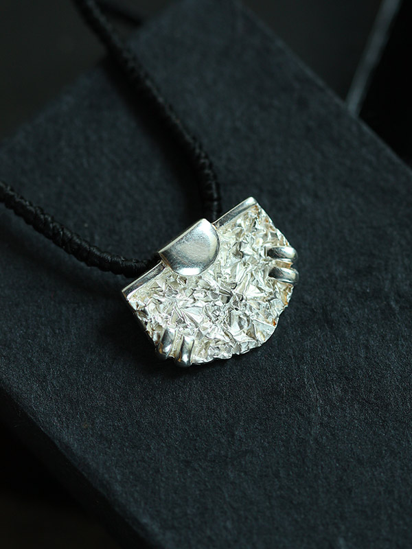 Silver Ripple Pendant