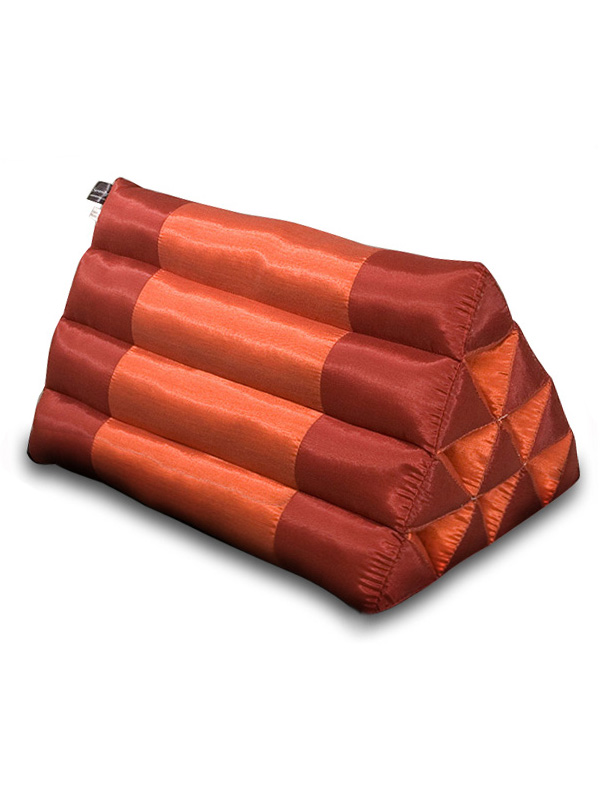 Triangle Pillow Silklook (burgundy Rust)