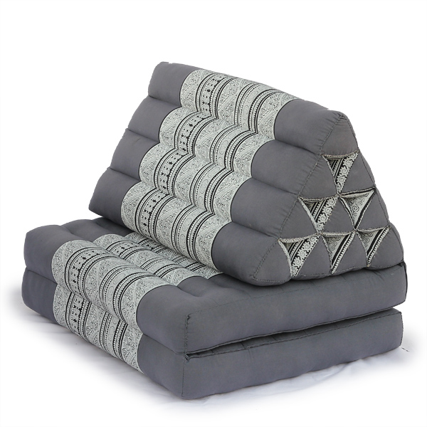 Triangle Pillow Two Fold Batik (grey)