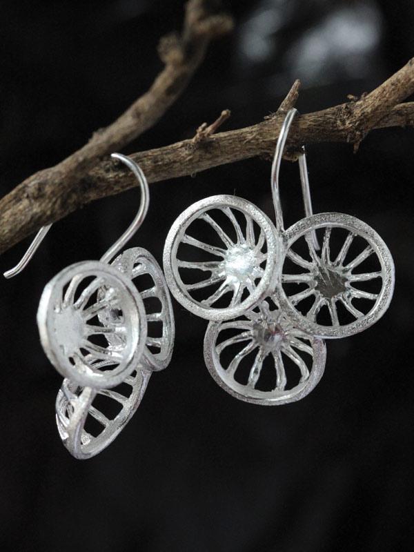 Triple Sun Earrings