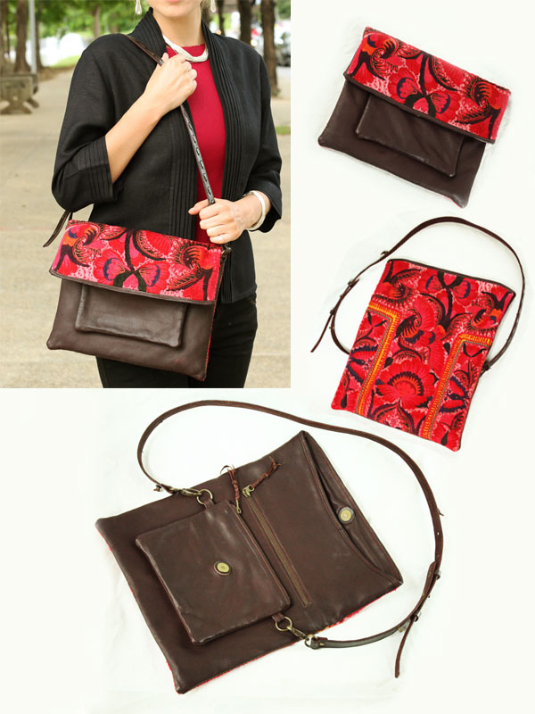 Vermilion Leather Handbag