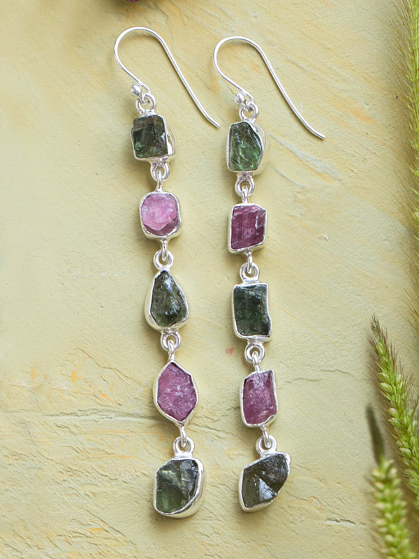 Red and Forest Tourmaline Stones