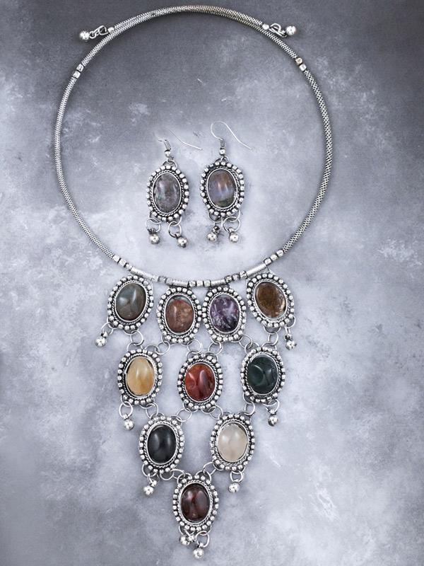 Mahal Pendant & Earrings Set