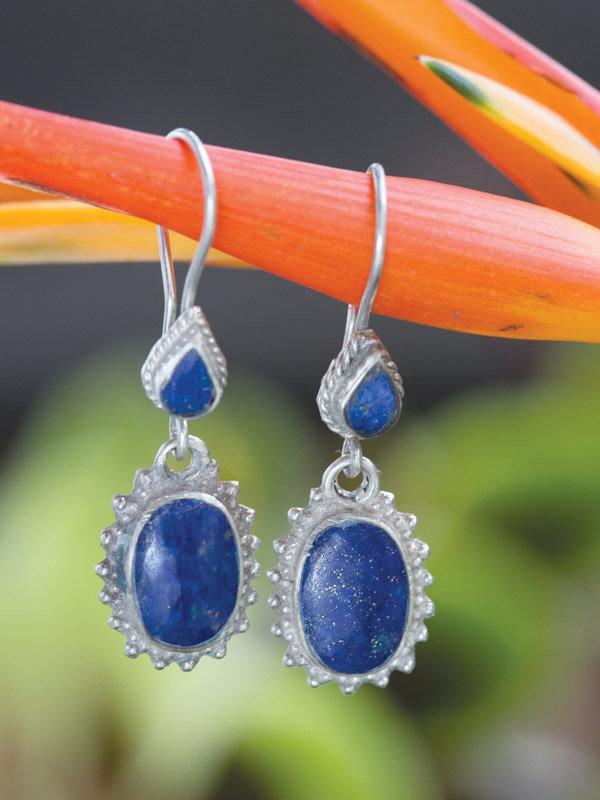 Blue Victory Earrings