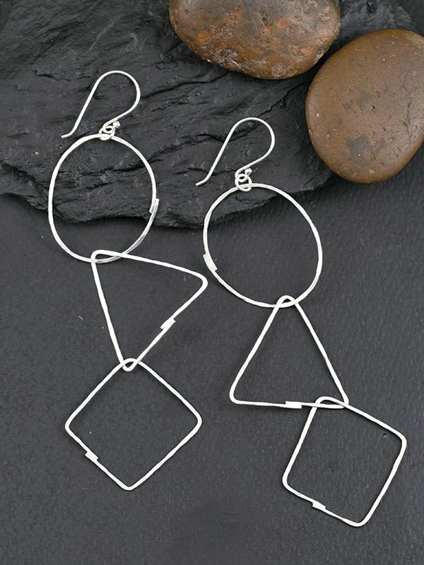Geo Chain Earrings