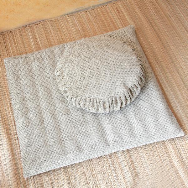 Zafu And Zabuton Tatami Weave Set (tan)