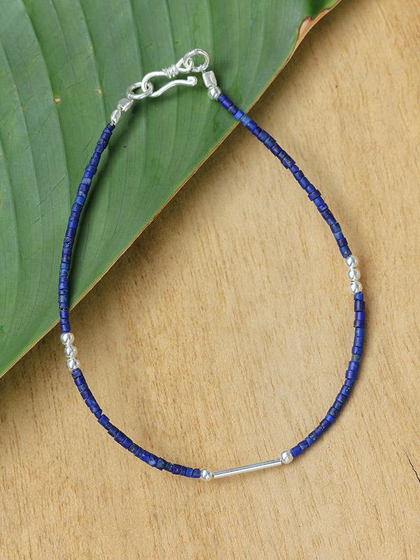 Silver Segment Stone Bracelets