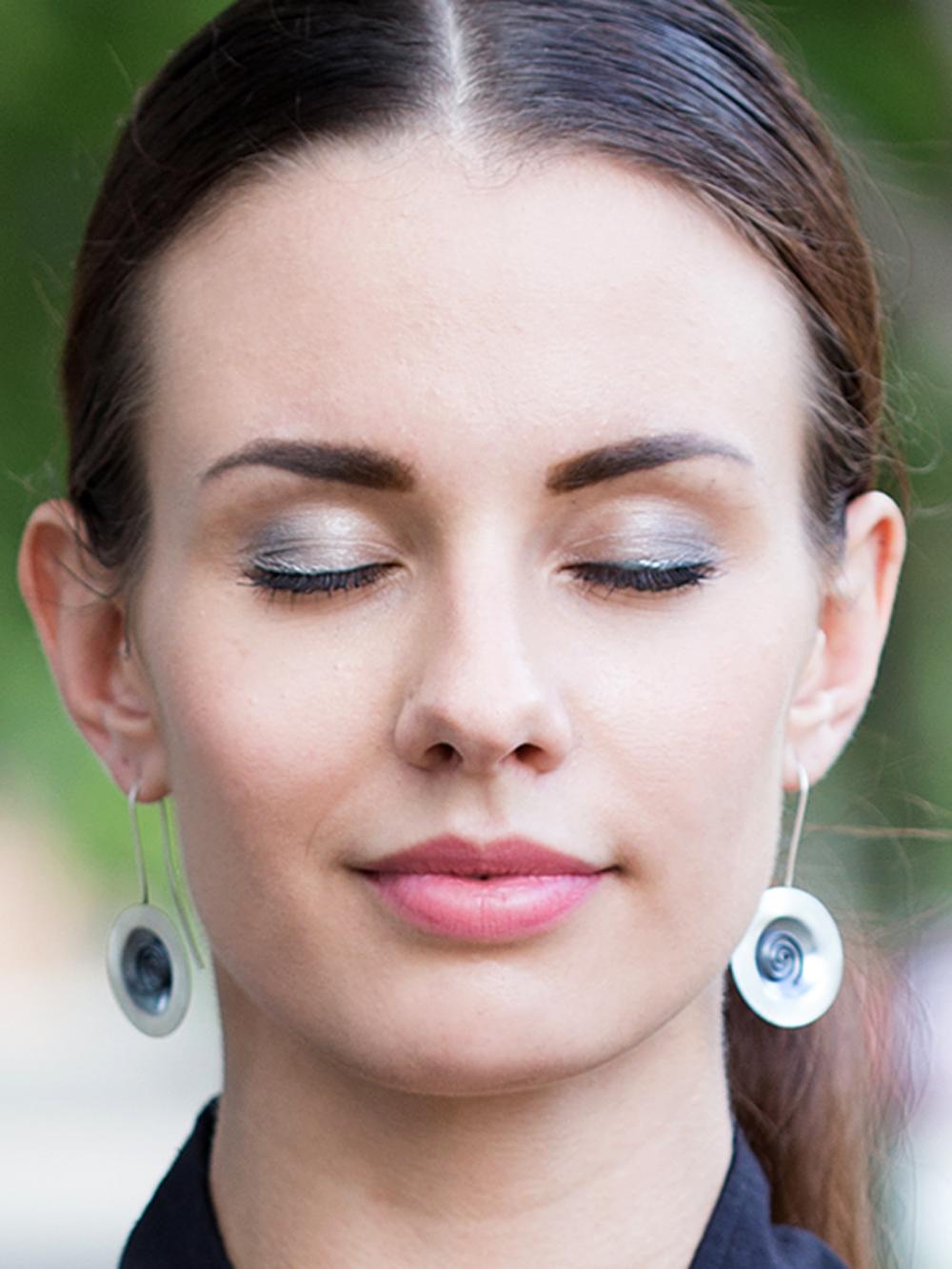 Spiral Eclipse Earrings
