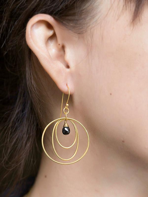 Gold Orbit Earrings