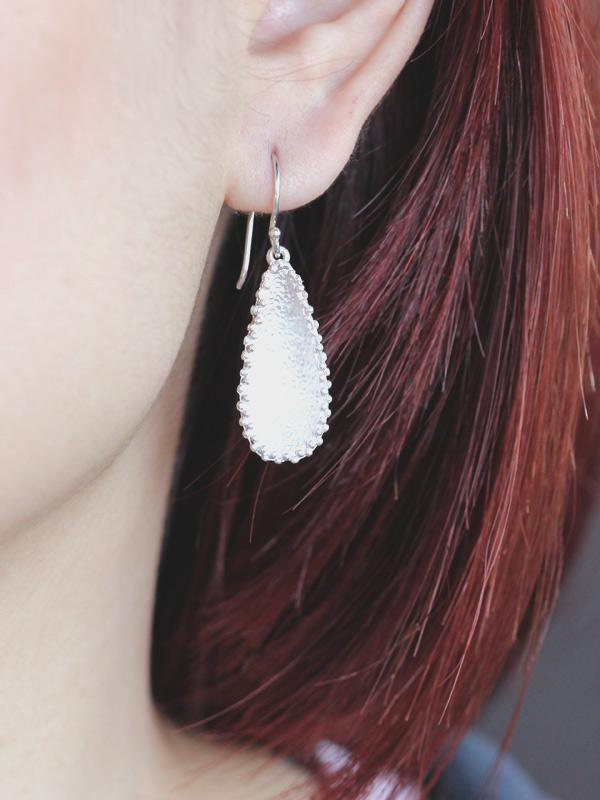 Laced Teardrop Earrings