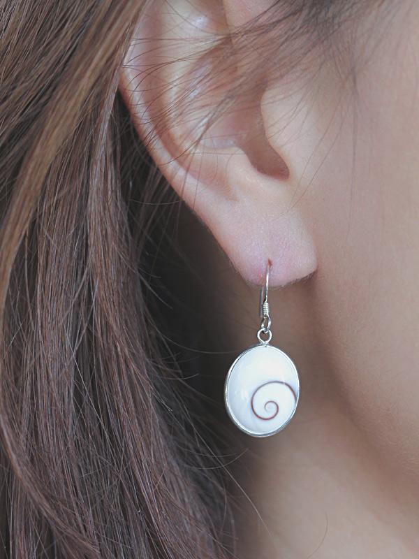 Nova Cats Eye Silver Earrings